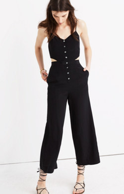 Silk Cutout Jumpsuit