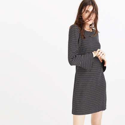 Knit Bell-Sleeve Dress in Stripe