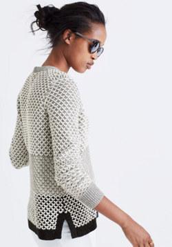 Geo-Block Pullover Sweater