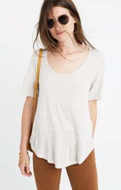 Anthem Scoop Elbow-Sleeve Tee