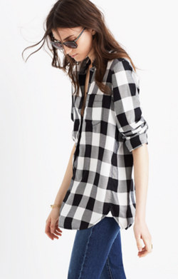 Slim Ex-Boyfriend Shirt in Buffalo Check
