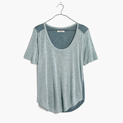 Anthem Scoop Elbow-Sleeve Tee in Colorblock