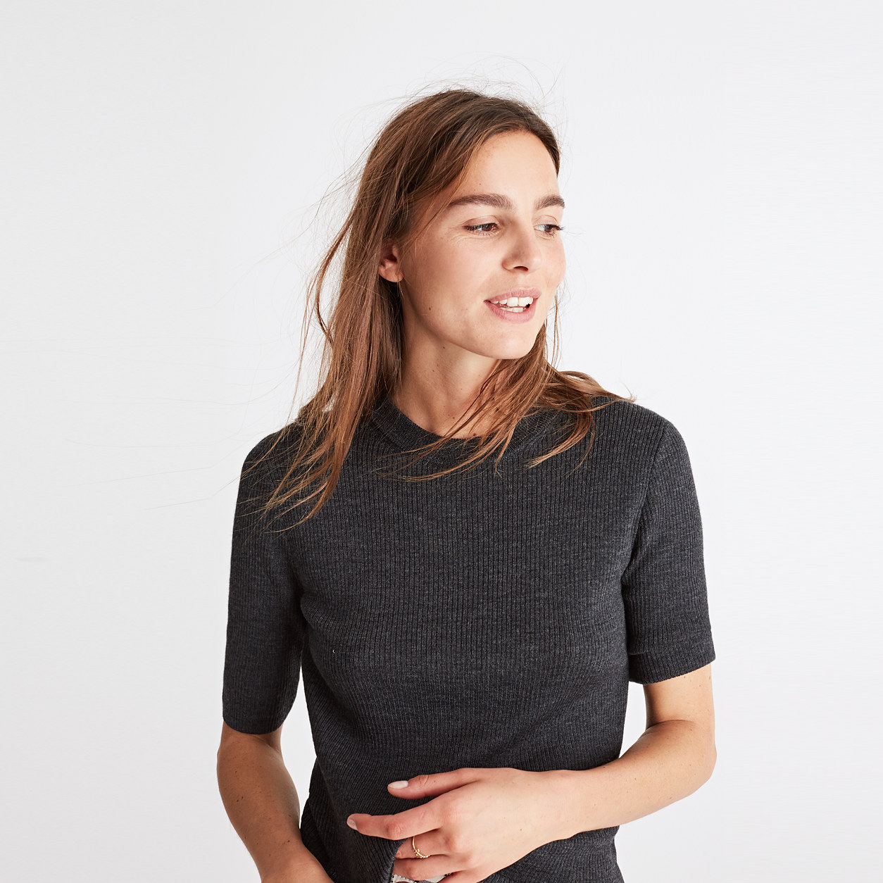 Ribbed Sweater Top : sleeveless & short sleeve | Madewell