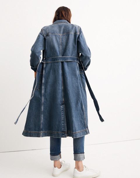 Denim Duster Coat in alvarado wash image 3