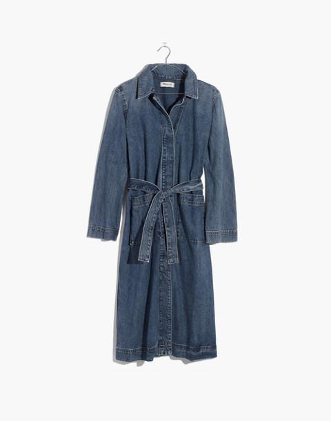 Denim Duster Coat in alvarado wash image 4