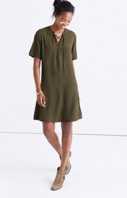 Novella Lace-Up Dress