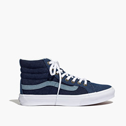 Madewell x Vans® Sk8-Hi Slim High-Top Sneakers in Denim