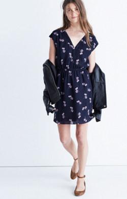 Skygaze Dress in Pansy Bouquet