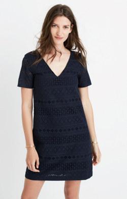 Embroidered Eyelet Tunic Dress