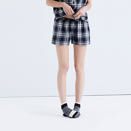 Bedtime Pajama Shorts in Moore Plaid