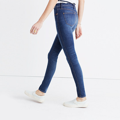 "Taller 9"" High-Rise Skinny Jeans in Polly Wash"