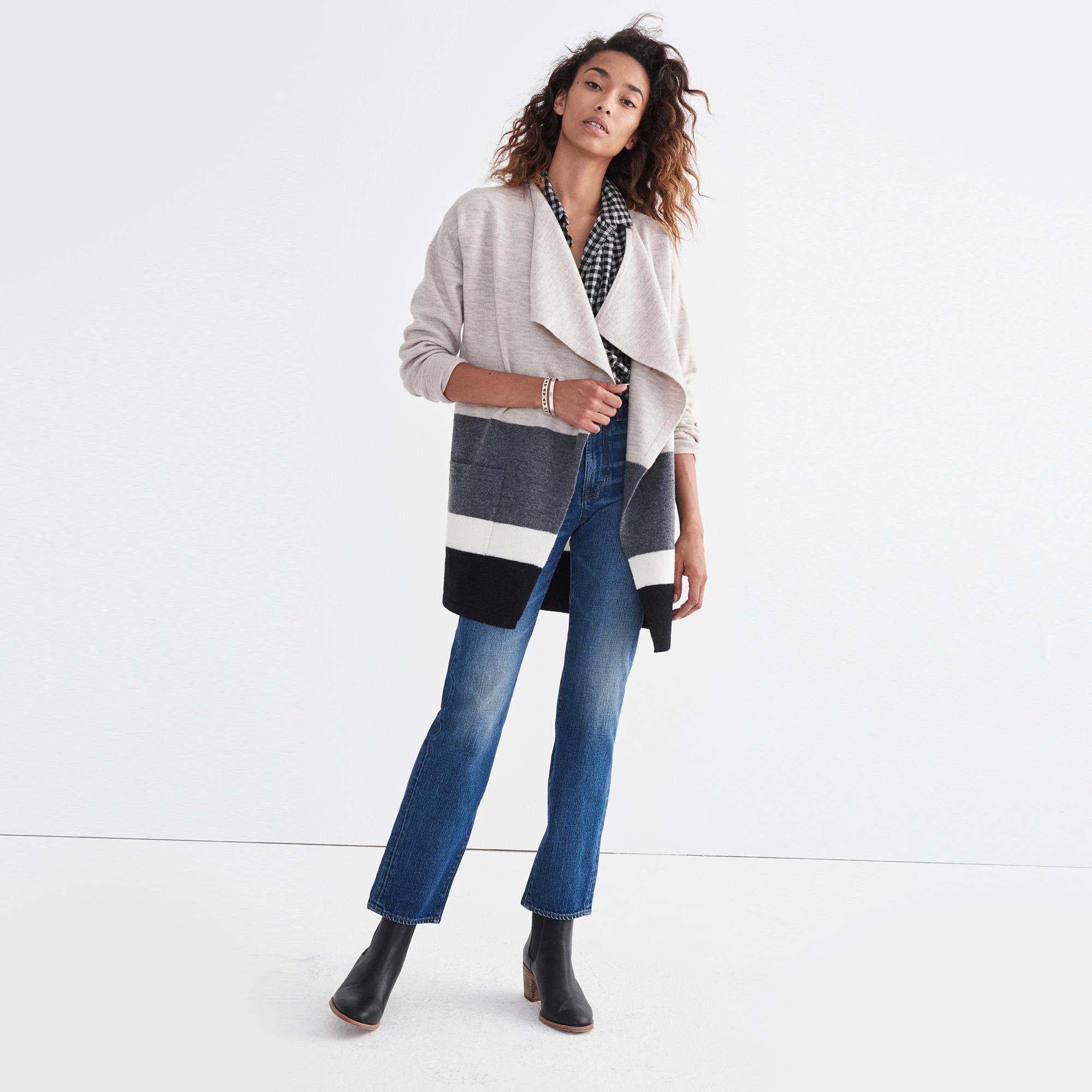 Meridian Sweater-Jacket in Stripe : shopmadewell cardigans ...