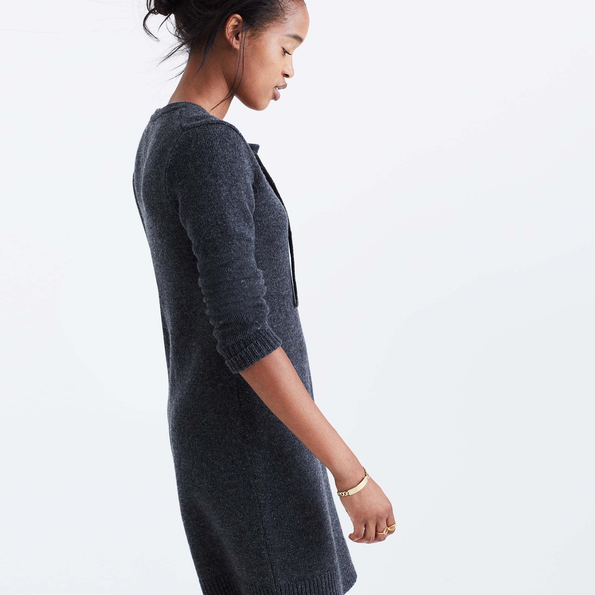 Lace-Up Sweater-Dress : casual dresses | Madewell