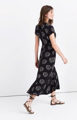 Silk Moonshade Maxi Dress in Palmflower