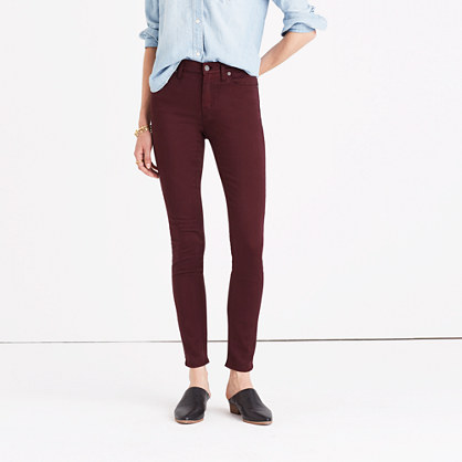 """Tall 9"""" High-Rise Skinny Sateen Jeans"""