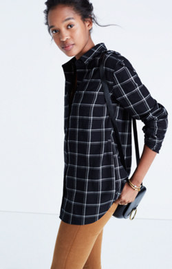 Classic Ex-Boyfriend Shirt in Windowpane Plaid