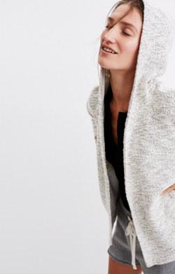 Textural Hooded Jacket