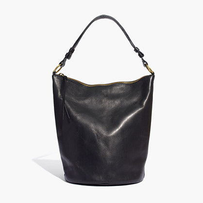 The Lisbon O-Ring Bucket Bag in Leather