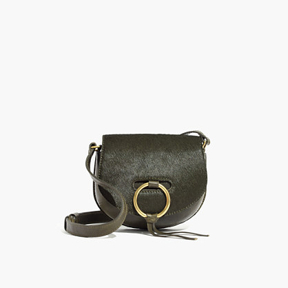 The Lisbon O-Ring Mini Saddlebag in Calf Hair