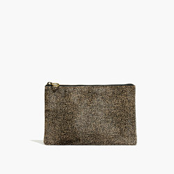The Pouch Clutch in Spotted Calf Hair