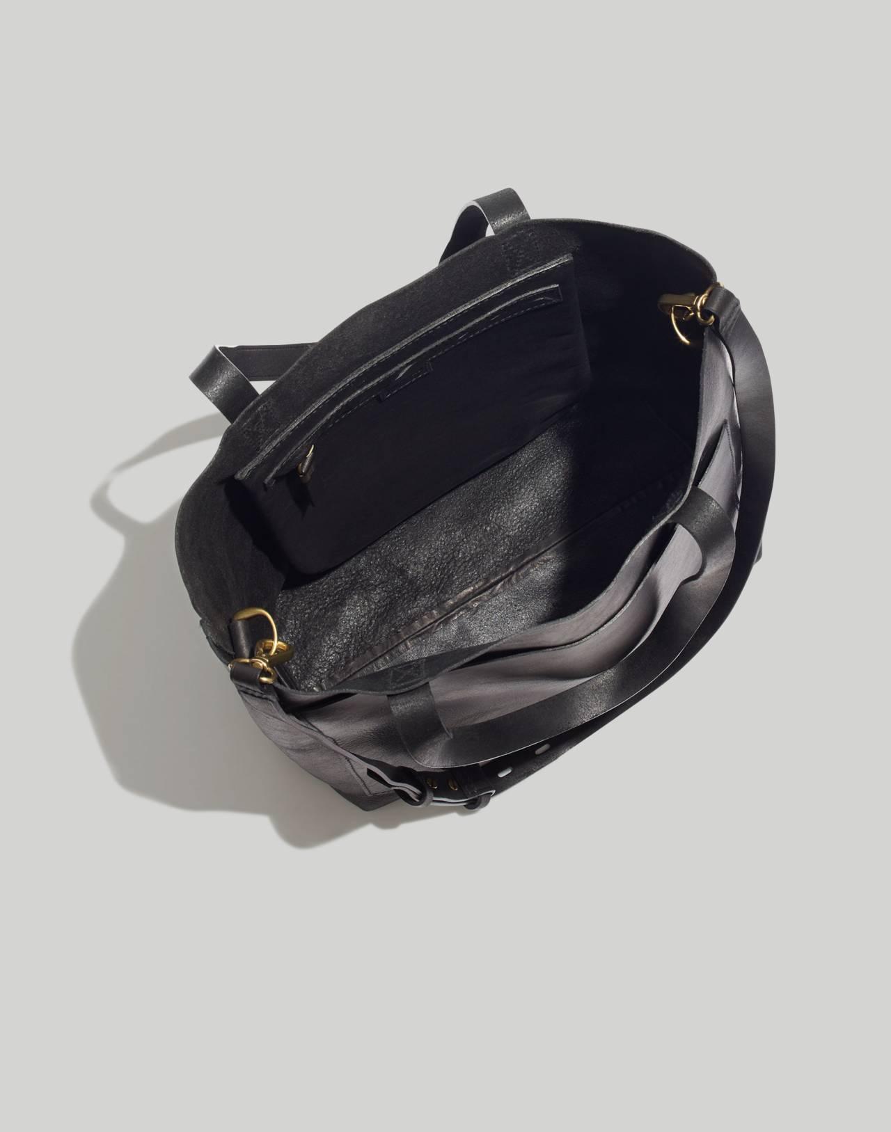 The Medium Transport Tote in true black image 3