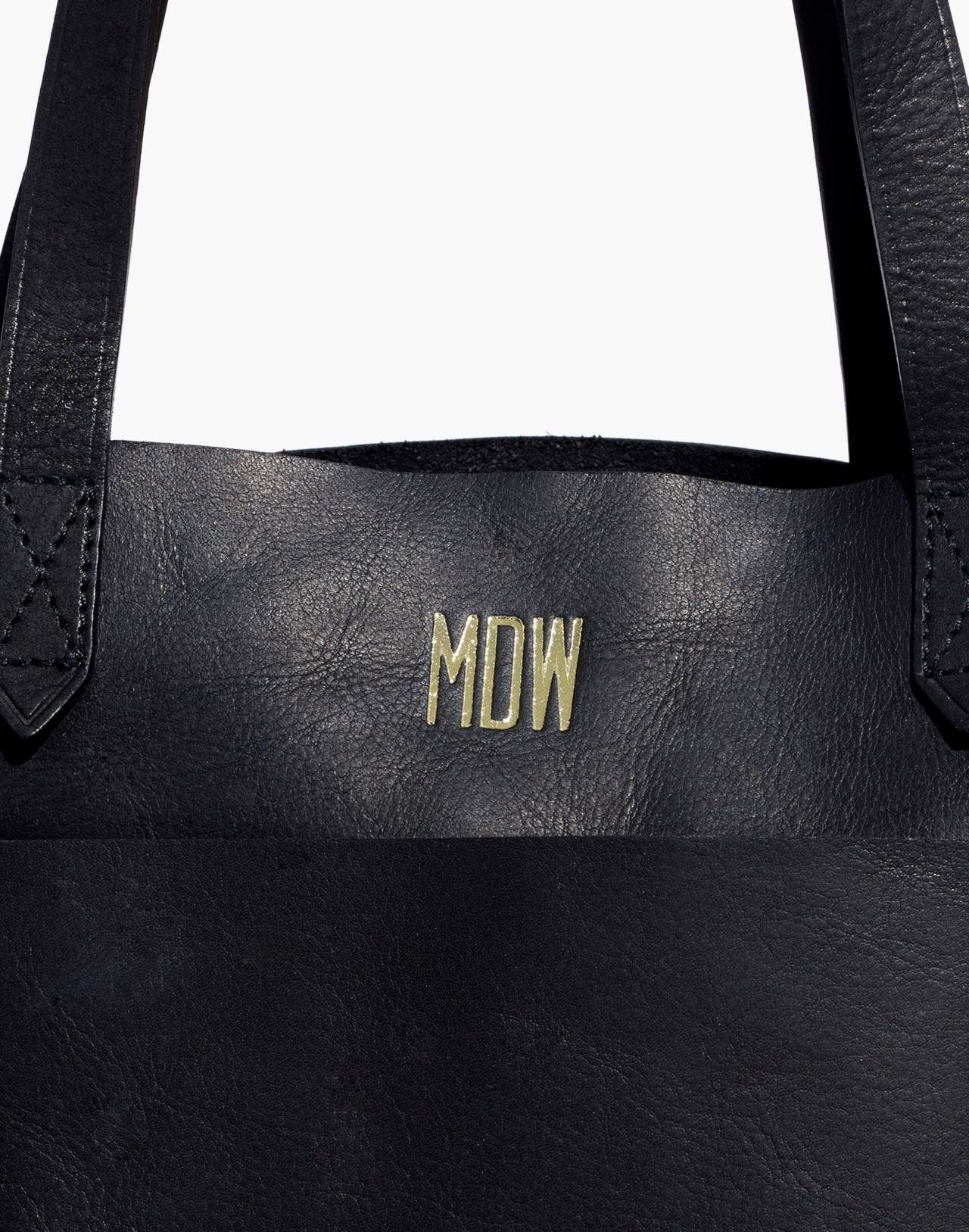 The Medium Transport Tote in true black image 4