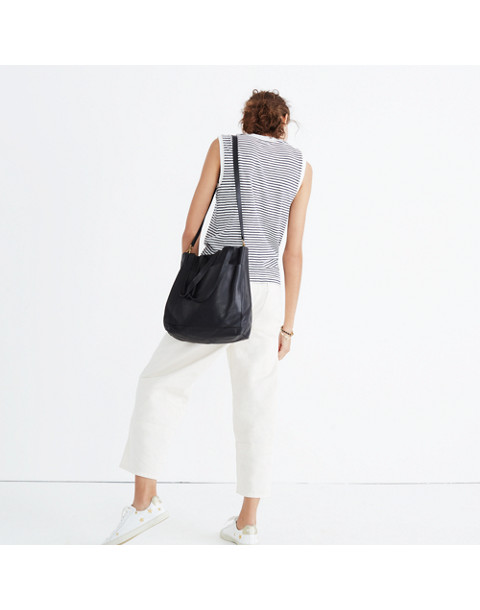 The Medium Transport Tote in true black image 2