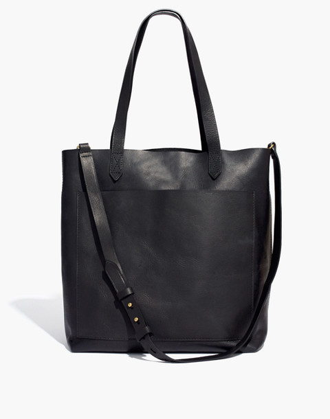 The Medium Transport Tote in true black image 1