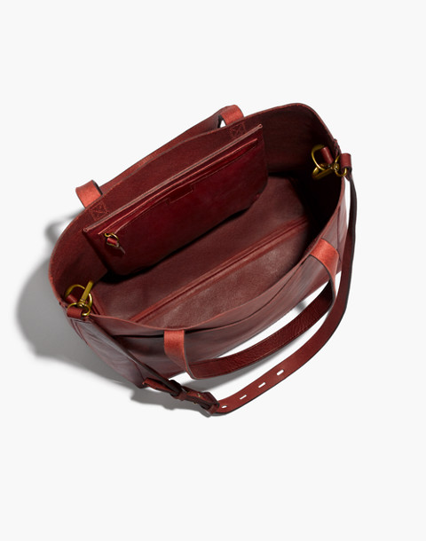 The Medium Transport Tote in dark cabernet image 2