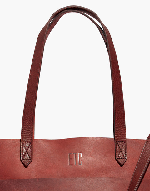 The Medium Transport Tote in dark cabernet image 3