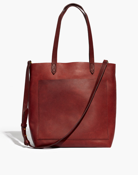 The Medium Transport Tote in dark cabernet image 1
