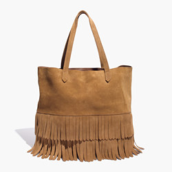 The Transport Tote: Suede Fringe Edition