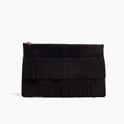 The Suede Fringe Clutch