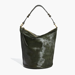 The Lisbon O-Ring Bucket Bag in Calf Hair