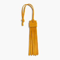 Suede Fringe Bag Tag in Cider
