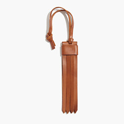 Leather Fringe Bag Tag