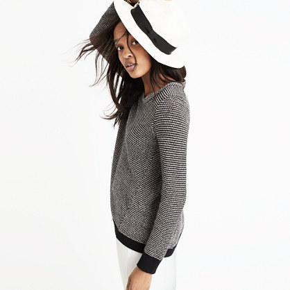 Riverside Pullover Sweater in Dotweave