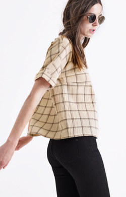 Plaid Catchline Tee