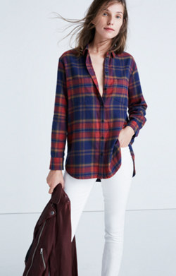 Flannel Oversized Ex-Boyfriend Shirt in Lewis Plaid