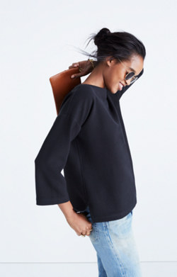 Crepe Boatneck Top