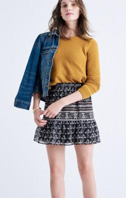 Artisan Floral Mini Skirt
