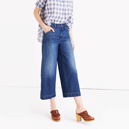 Wide-Leg Crop Jeans in Colvin Wash