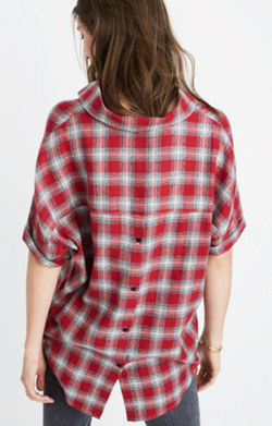 Courier Button-Back Shirt in Fairfax Plaid