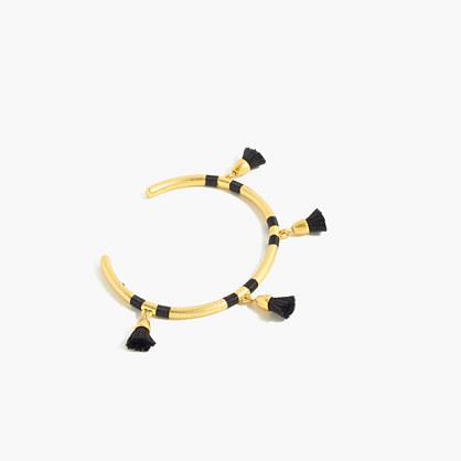 Wrapped Tassel Cuff Bracelet