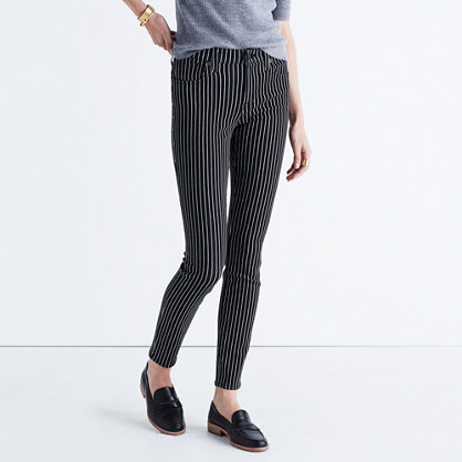 "9"" High-Rise Skinny Jeans: Railroad Stripe Edition"