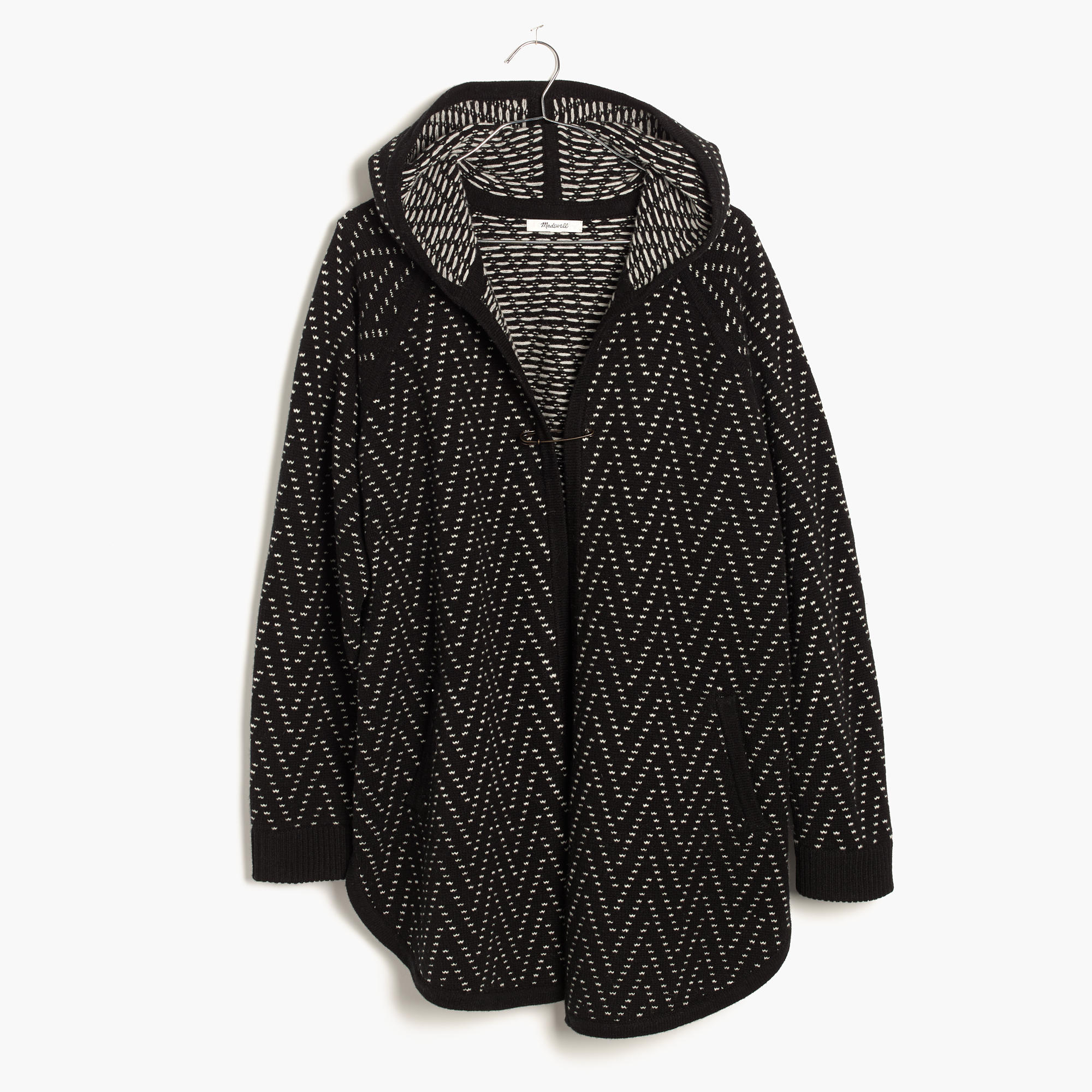 Hooded Herringbone Cardigan Sweater : shopmadewell cardigans ...
