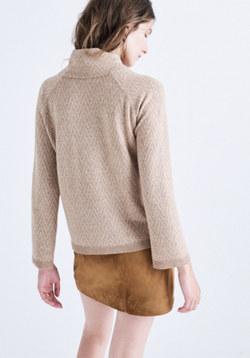 Cinematheque Mockneck Sweater in Chevron