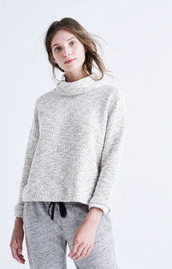 Marled Pullover Top