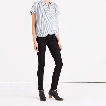 Maternity Skinny Jeans in Black Frost