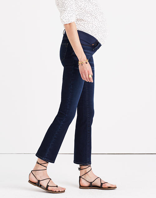 378cec7915409 Maternity Cali Demi-Boot Jeans in Hayes Wash in null image 1